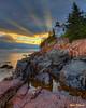 Bass Harbor Heavenly Sunset 0446  w57