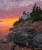 Bass Harbor Colorful Sundown 4423 w55
