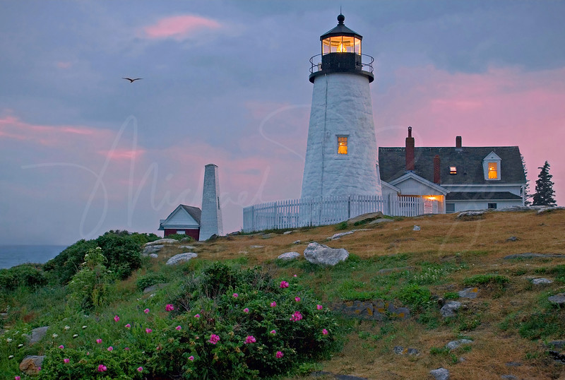 Pemaquid Point at Dusk