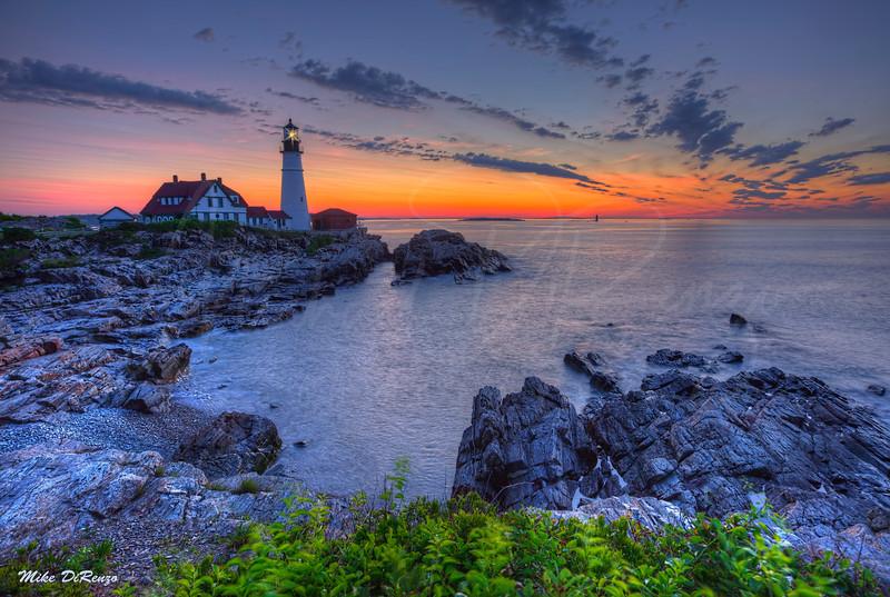 Portlandhead Lighthouse at Blue Hour 8934 w57
