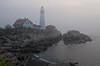 Portlandhead Lighthouse in Fog   8469