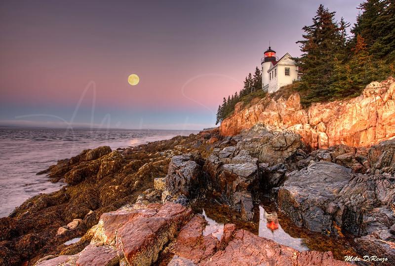 Bass Harbor Moonset 3605 w40