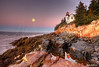 Bass Harbor Moonset 3605 w40