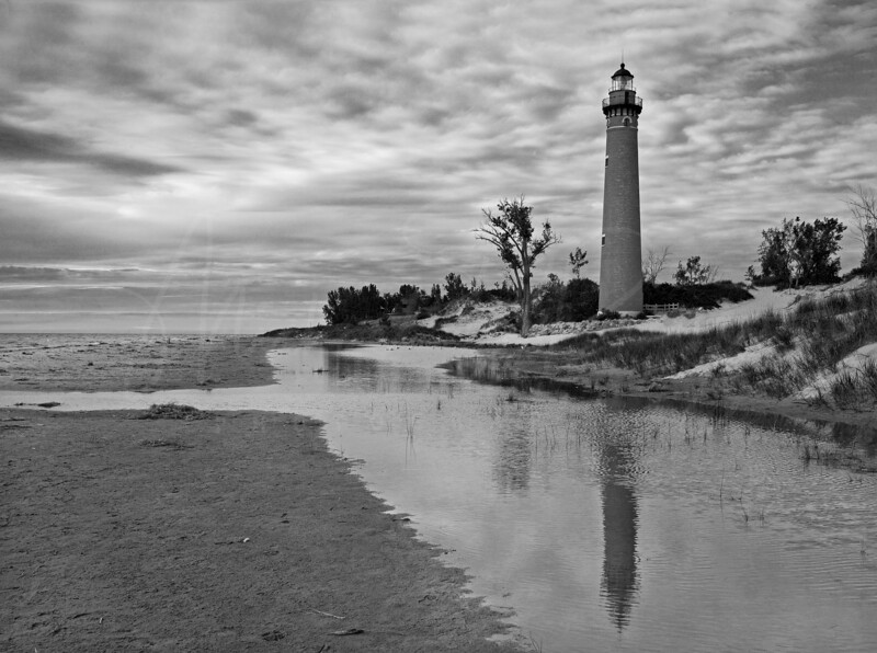 Little Sable Lighthouse 3724 BW