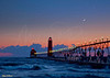 Grand Haven Michigan at Twilight 3550 w16