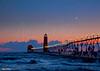Grand Haven Michigan at Twilight 3550 w16