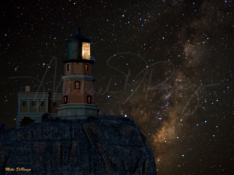 Split Rock Lighthouse Starry Night 4043 w55