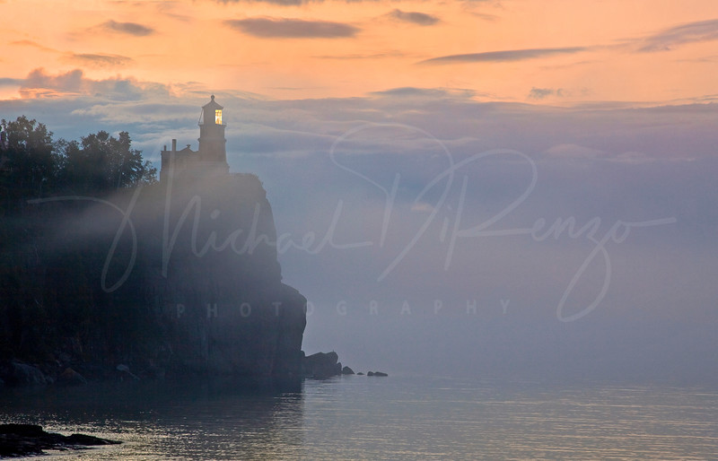 Split Rock Lighthouse in the Fog - 4628 W4 HCC