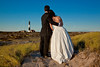 Bride and Groom and Lighthouse - Fire Island