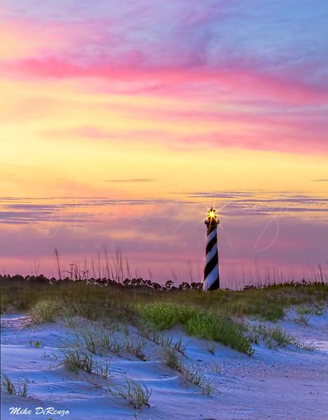 Cape Hatteras Lighthouse Sunset 3117 w36