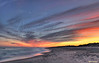 Colorful sunset along the Atlantic coast of Maryland.