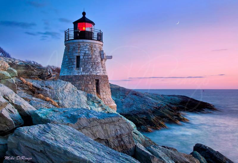 Castle Hill Lighthouse at Dusk  8208 w26