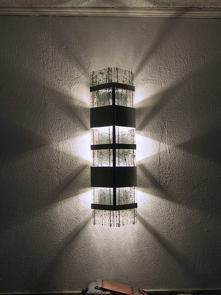 Floating Glass Wall Sconces
