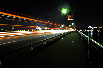 Bus drove by during long exposure