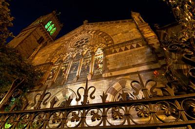 Old South Church facade @ night.  Beautiful.