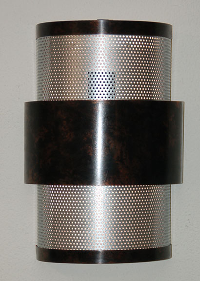 134L in very dark mottled copper and perforated stainless