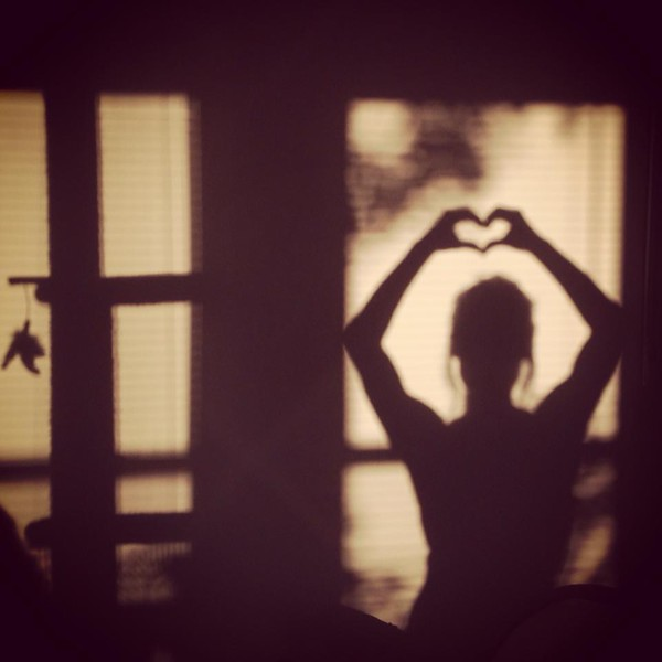 I couldn't help myself :) the sunrise pours through my windows and embraces me with light. Love.