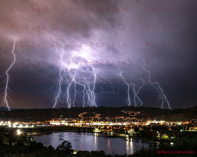 Lightning over Castaic, CA. 03-05-2019 Multi Images