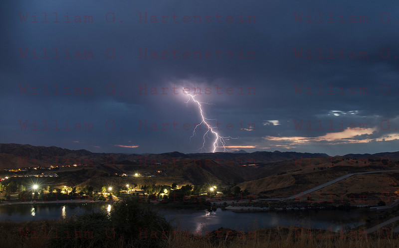 Lightning over Lake Castaic, Castaic, CA. 09-02-2017