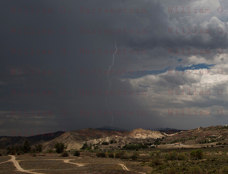 Lightning in Santa Clarita July 30, 2015