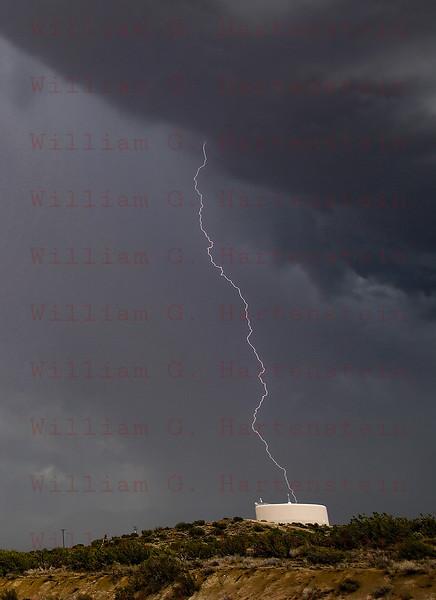 Lightning strikes east of LittleRock, CA July 30, 2015