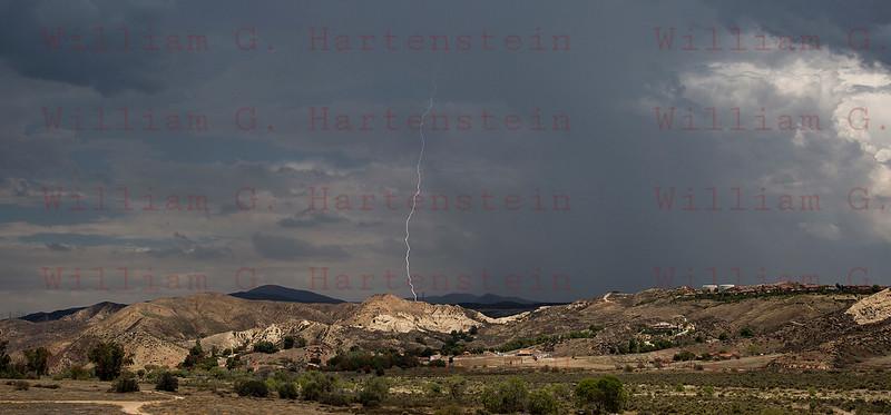 Lightning Strikes North of Santa Clarita July 30, 2015