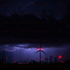 Lightning over Mojave Windmill Farm, Mojave, CA. 09-09-2017