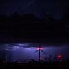 Lightning over Mojave Windmill Farm, Mojave, CA. 09-09-2017