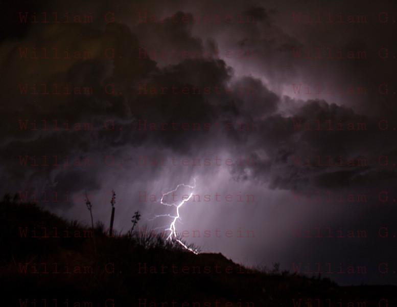 Lightning from Santa Clarita, CA. Oct. 14, 2014