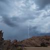Lightning over Vasquez Rocks. Agua Deluce, CA. 09-010-201