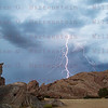 Lightning over Lightning over Vasquez RocksNatural Park,  Agua Dulce, CA. 09-010-201