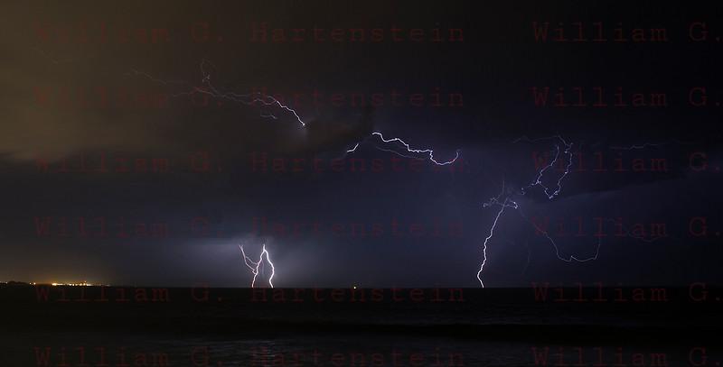 Lightning off the coast of Ventura, CA. 09-010-2017