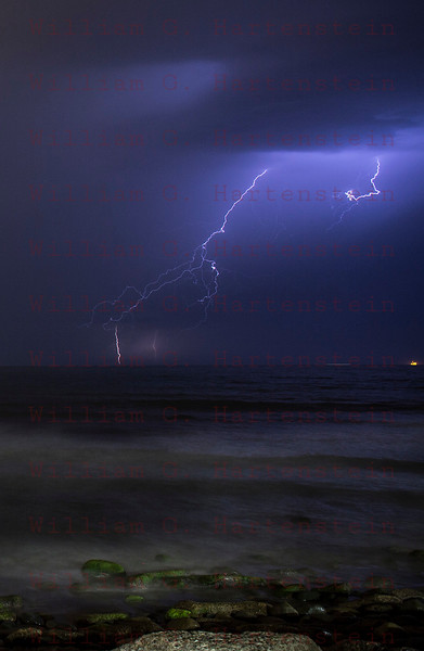 Lightning off the coast of Ventura, CA. 09-010-2017