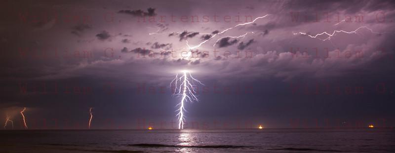 Lightning off the coast of Ventura, CA. 09-11-2017
