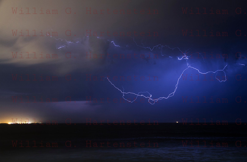 Lightning off the coast of Ventura, CA. 09-11-2017