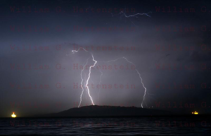 Lightning off the coast of Ventura, CA. 09-011-2017