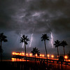 """Triple Strike"". Manhattan Beach Lightning Storm.  8/15/08"