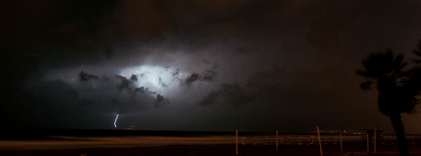 """Malibu Lightning"".  Image captured 1/21/10 during a cold and wet thunderstorm that hit the West Coast.  Manhattan Beach, Ca."