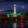 Jupiter Lighthouse With Lightning