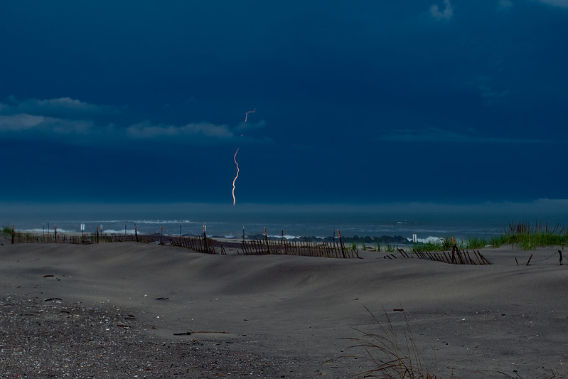 Lightning Over The Atlantic, Rockaway Beach