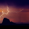 Shiprock in last night's thunderstorm, Farmington, NM