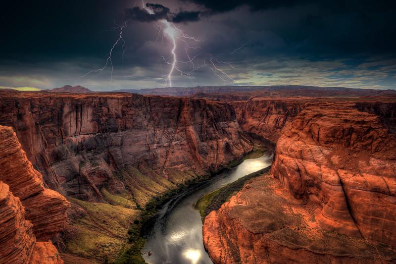 Lightning Over Horseshoe Bend, Page Arizona