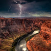 Lightning Over Horseshoe Bend, Page Arizona