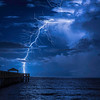 Juno Beach Pier Lightning