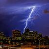Lightning Strike over Downtown Phoenix on September 27, 2014