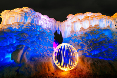 my little orb at the Ice Castles