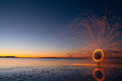small spark @ Great Salt Lake, Utah
