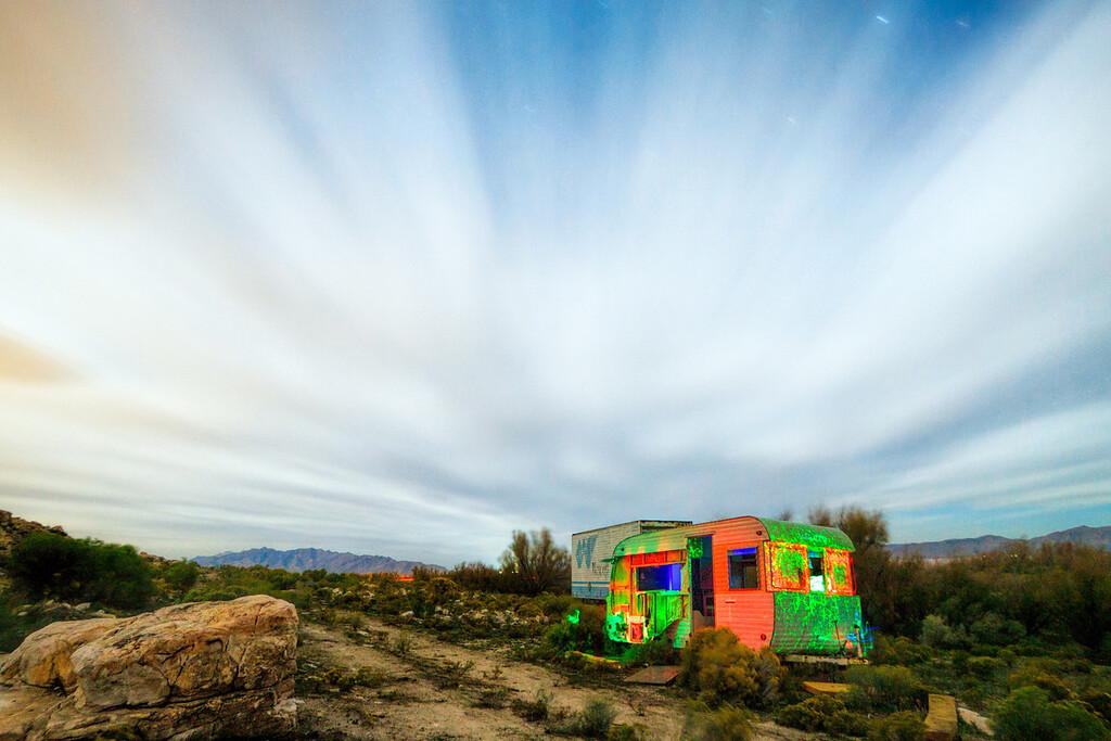 psychedelic camper