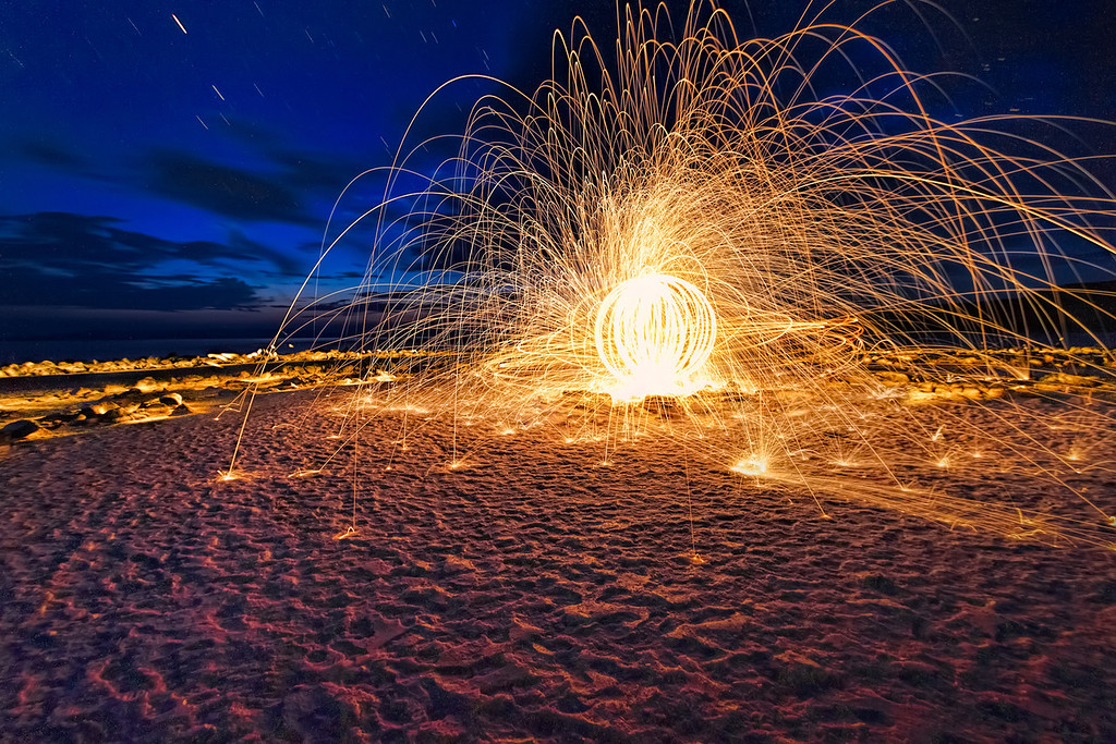 spiral jetty vortex of fire