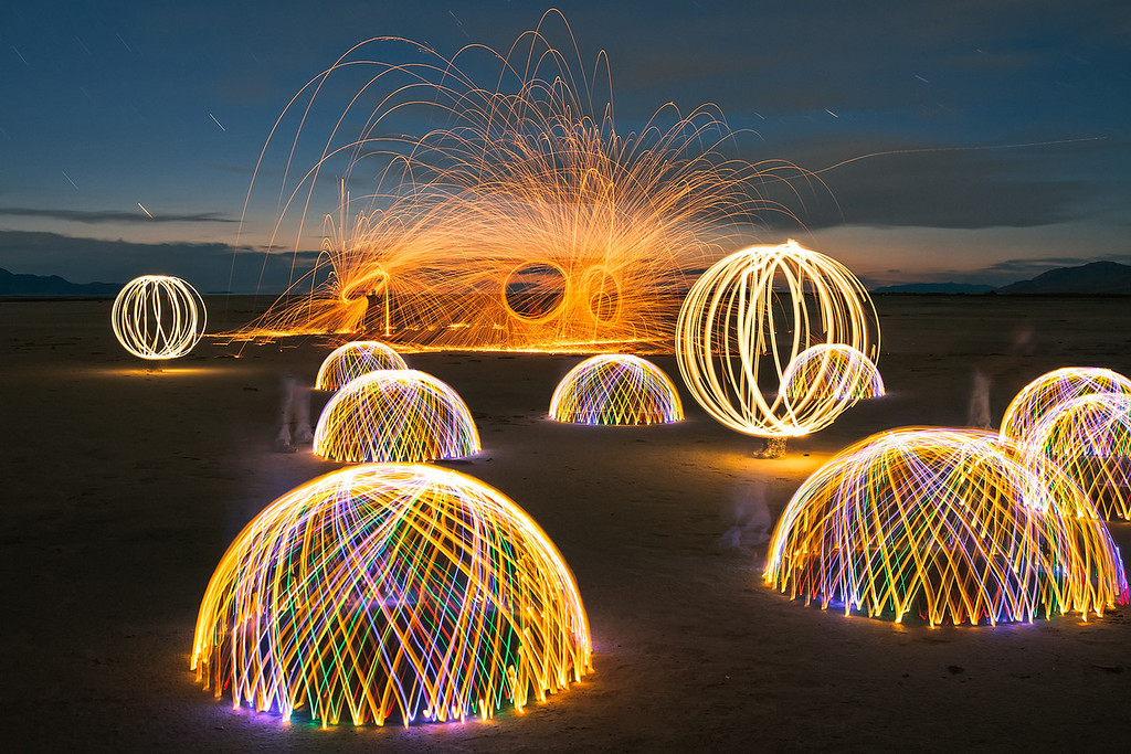 Great Salt Lake light painting